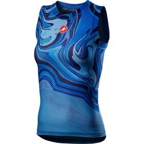 Castelli Pro Mesh Sleeveless Jersey Women, azul